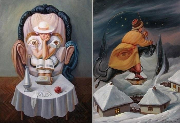 Двойные картинки обман зрения