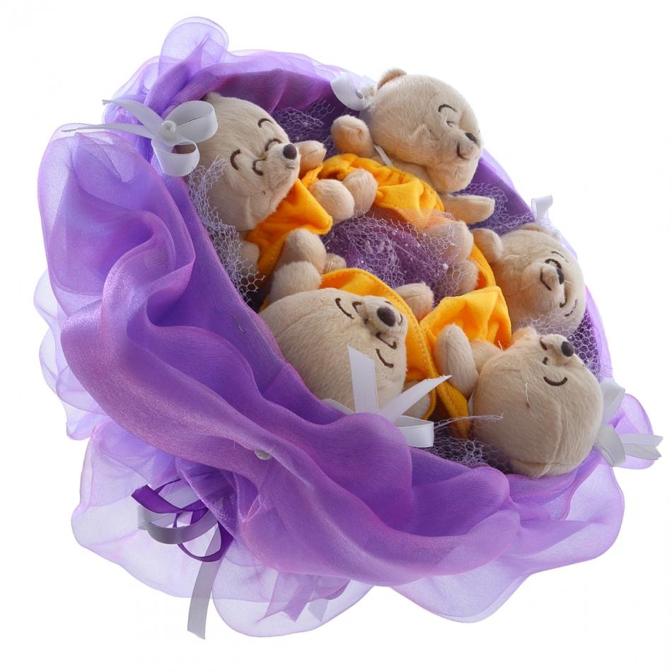 buketi-iz-myagkih-igrushek-mishki Как сшить игрушку мишку своими руками MiR Handmade