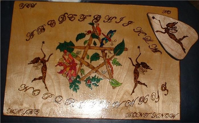 Доска уиджа, изготовленная своими руками.