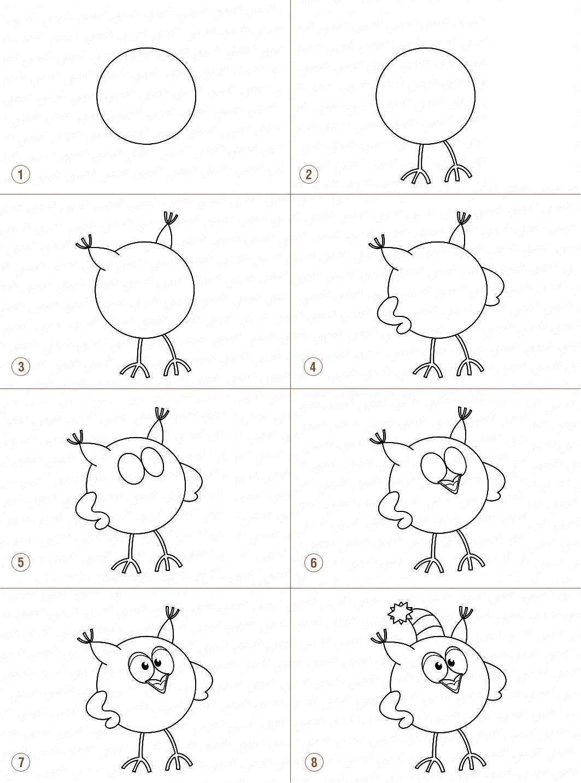 Картинка как нарисовать смешариков