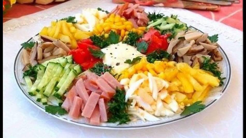 Яркий и красочный салат {amp}quot;радуга{amp}quot;