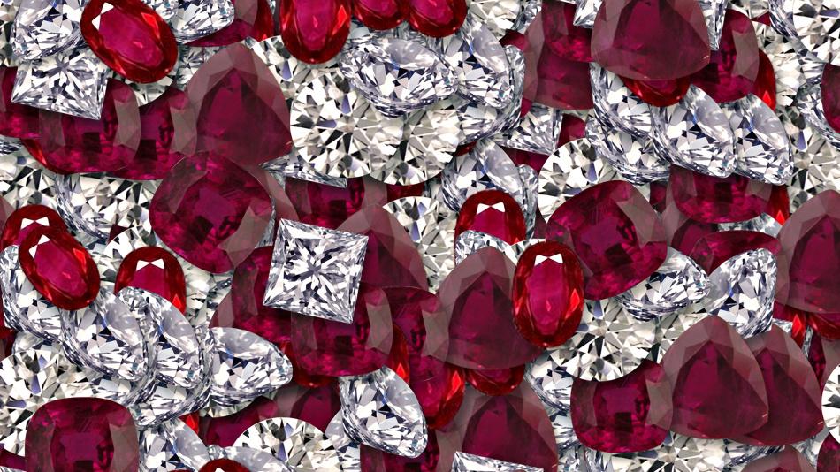 Бордовые драгоценные камни