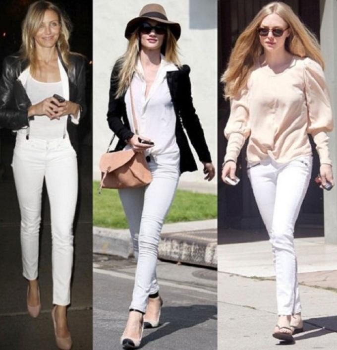 белые штаны женские с чем носить фото субтропическом