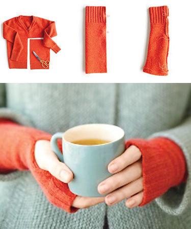 Митенки из свитера