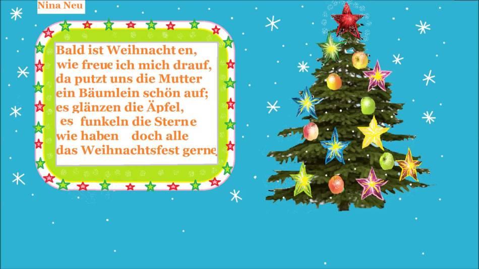 С рождеством поздравления стих на немецком