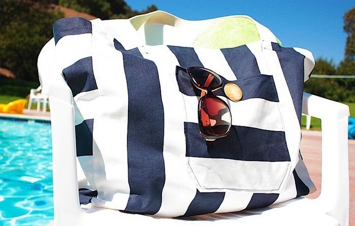 tkanevie-sumki Большая пляжная сумка из старых джинсов своими руками