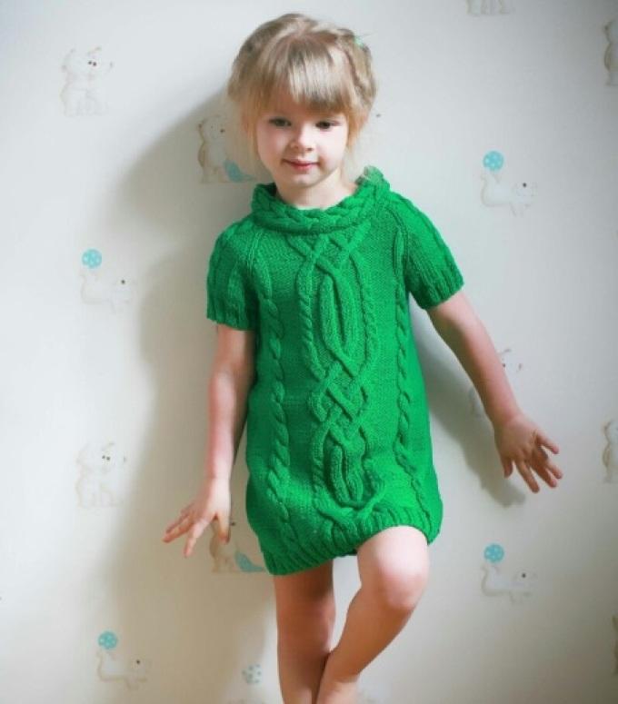 459b7109b9a255e91b1aedf368343486 Сарафан для девочки спицами: вязаный тёплый сарафан для девочки со схемами и описанием