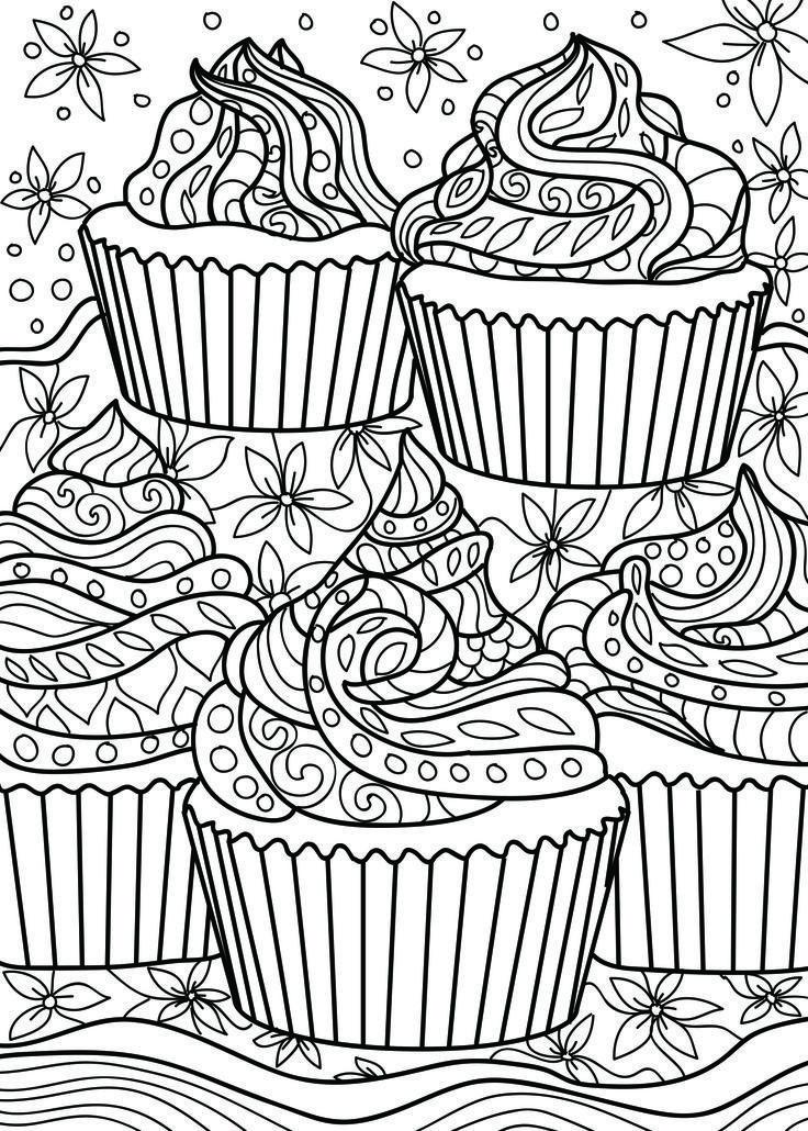 раскраска антистресс пирожные вас интересуют