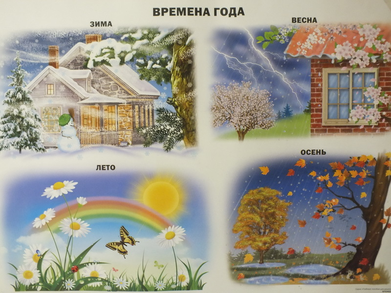 Тематический набор картинок времена года