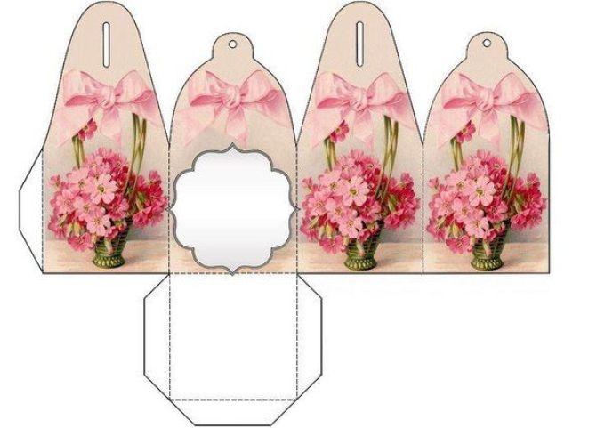 8-marta Нарядная коробочка для упаковки подарка из подручных материалов