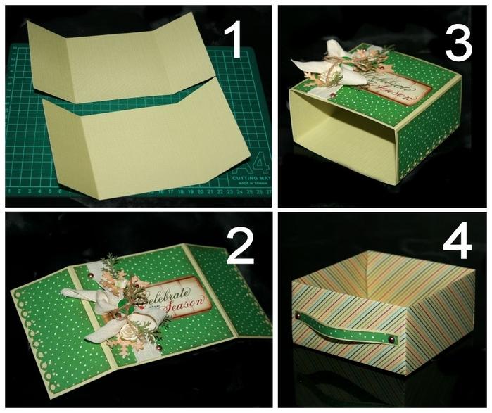 481bde33d605c22ce735a214956d3ec0 Нарядная коробочка для упаковки подарка из подручных материалов