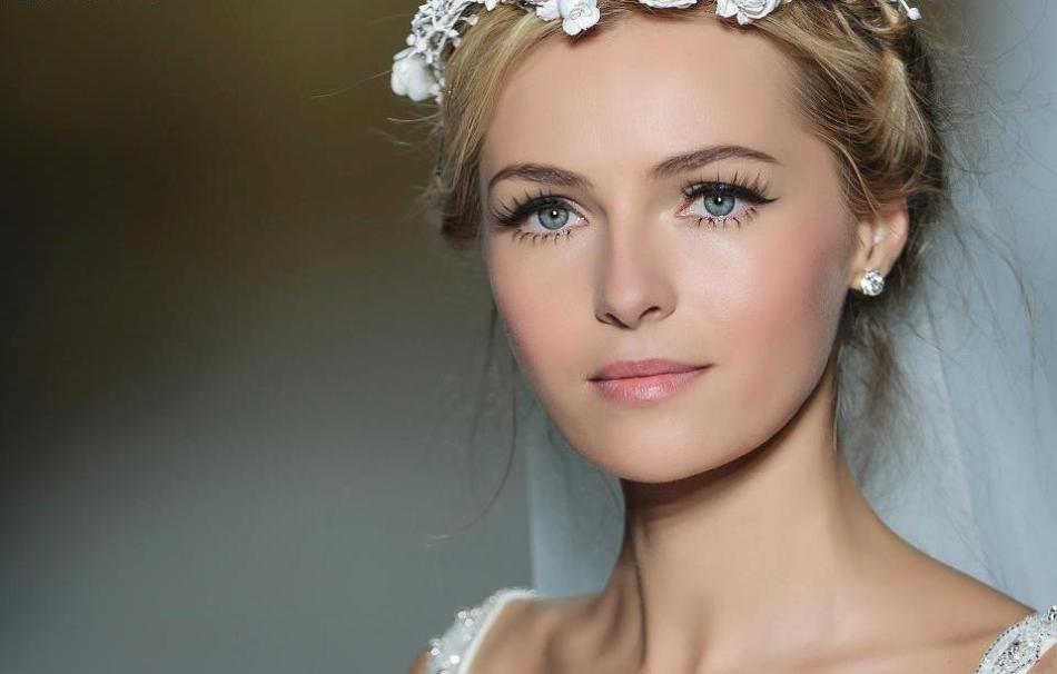 Естественный макияж глаз для невесты