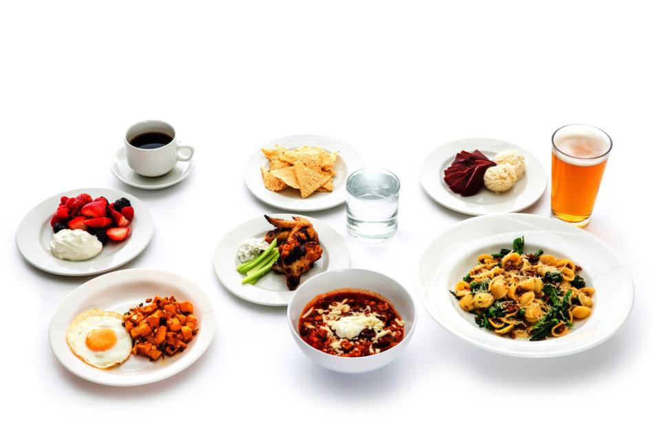 Список блюд на день. диета 1 500 ккал