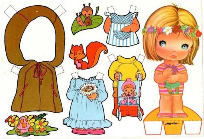 kartonnaya-kukla-odevalka-iz-magazina Куклы из бумаги своими руками (схемы, шаблоны) — Остров доброй надежды