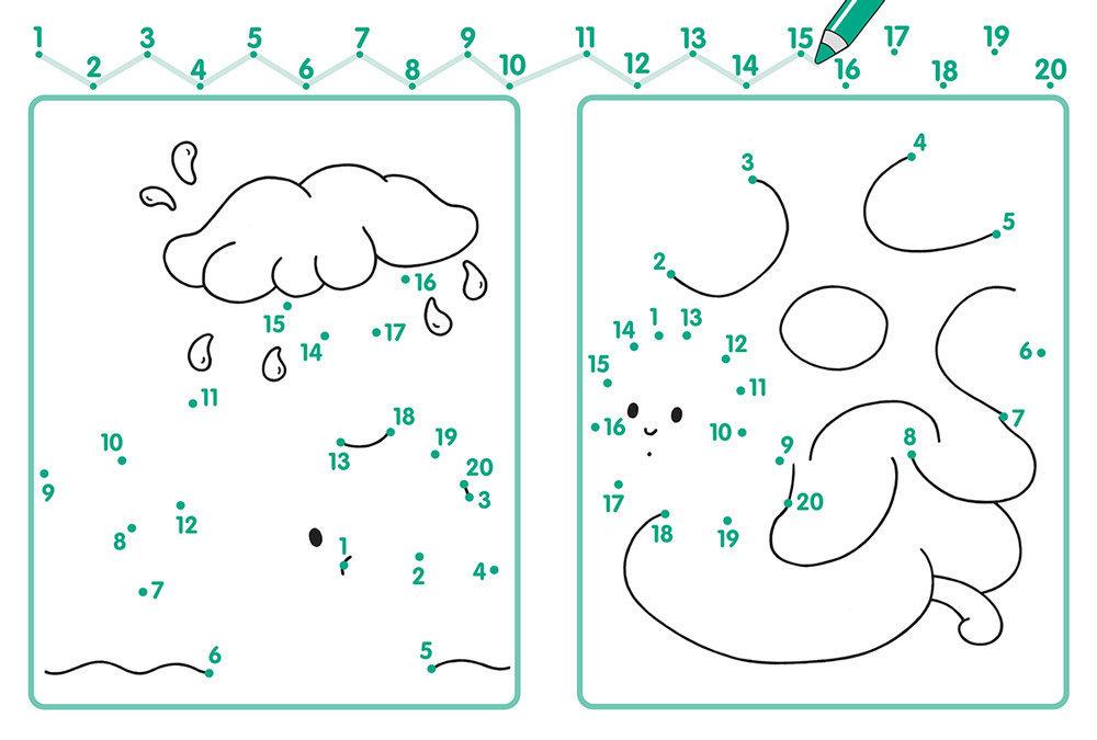 Картинки по точкам для детей с цифрами