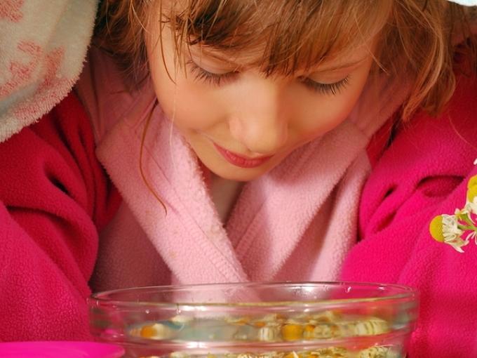Паровые мнгаляции при влажном кашле у детей.