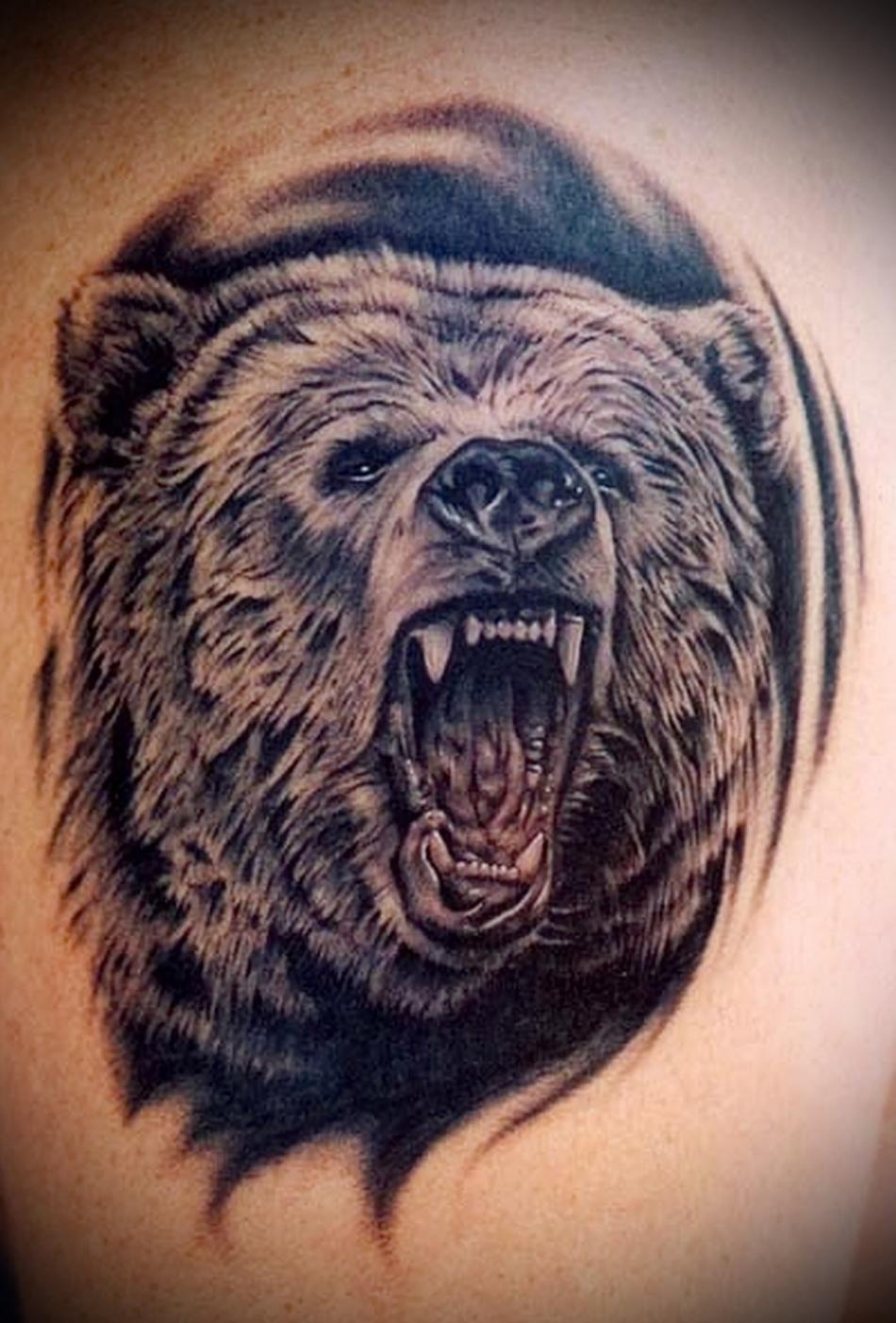 Медведь в качестве тюремной татуировки