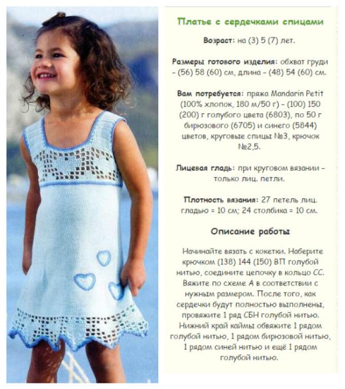 4cc4c94bf4c81c9a42c22eae4cebeebd Сарафан для девочки спицами: вязаный тёплый сарафан для девочки со схемами и описанием