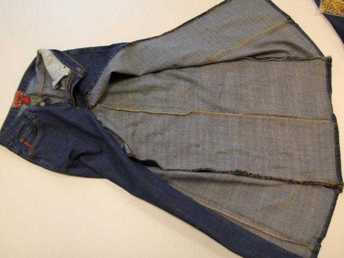 4cf5b99b2b76ec529e3abae2ad060586 Сарафан из старых джинсов своими руками: выкройки, как сшить детский сарафан