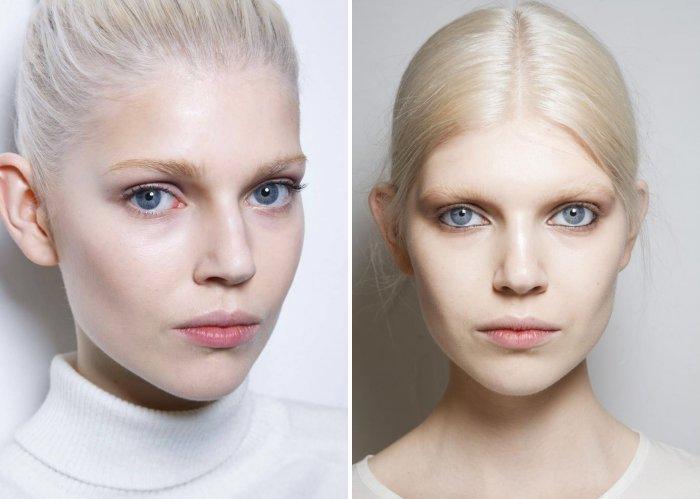 Брови у блондинок должны быть на 1-2 тона темнее цвета волос