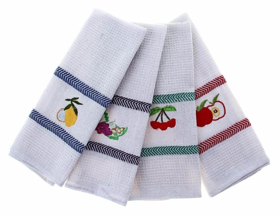 Вафельная ткань для кухонных полотенец