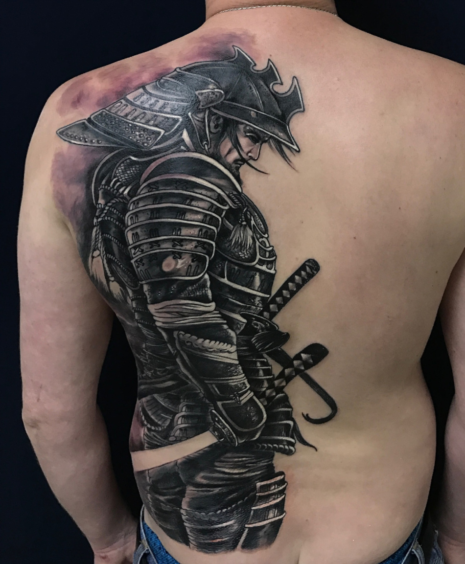 пажитника фото татуировок с самураями так давно