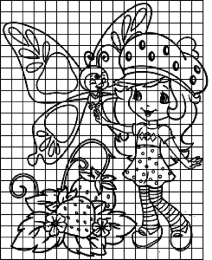 risunok-po-kletochkam-dlya-dnevnika-devochek Красивые и легкие рисунки для срисовки карандашом поэтапно для начинающих. Красивые и легкие рисунки по клеточкам для срисовки в тетради и личном дневнике для девочек и мальчиков