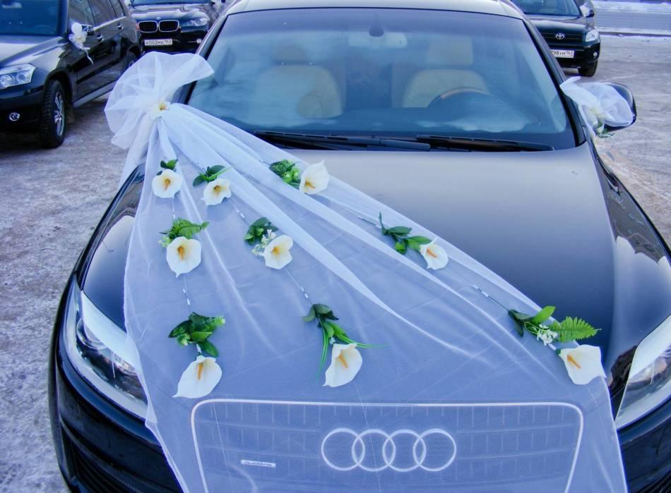 свадебные украшения на машину своими руками фото сборной