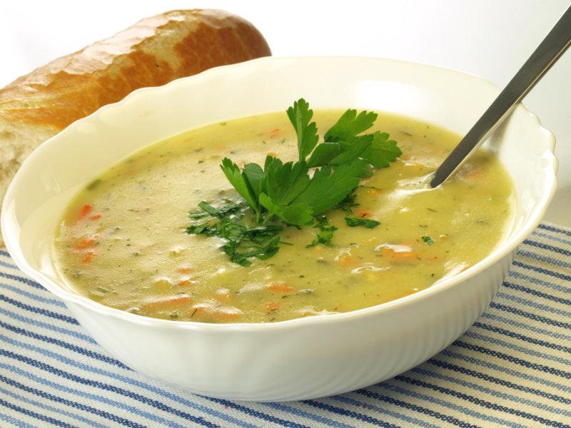 Крем-суп из замороженных овощей