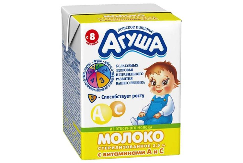 Молоко {amp}quot;агуша{amp}quot; для ребенка в 8 месяцев