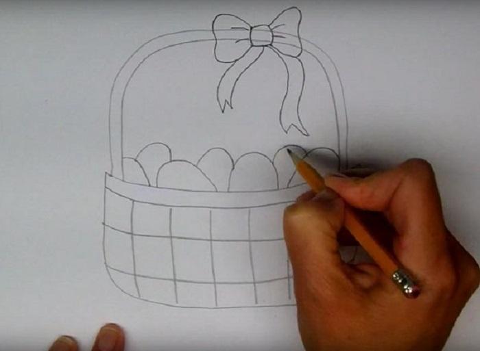 рисунки карандашом на пасху поэтапно