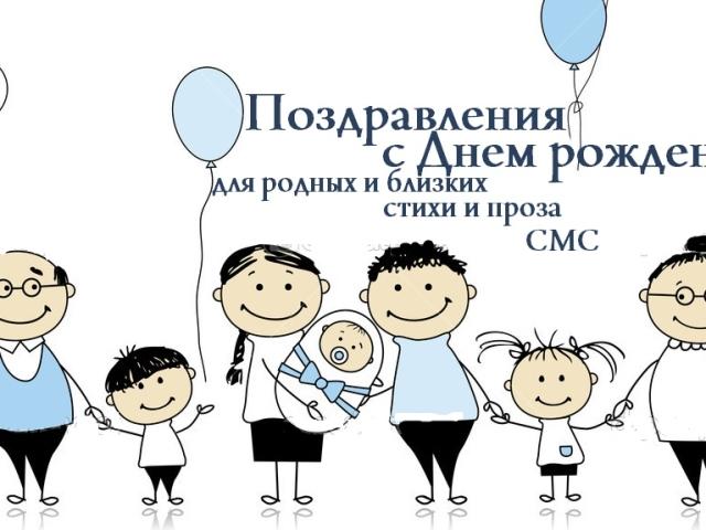 поздравление с днем рождения близкому родственнику