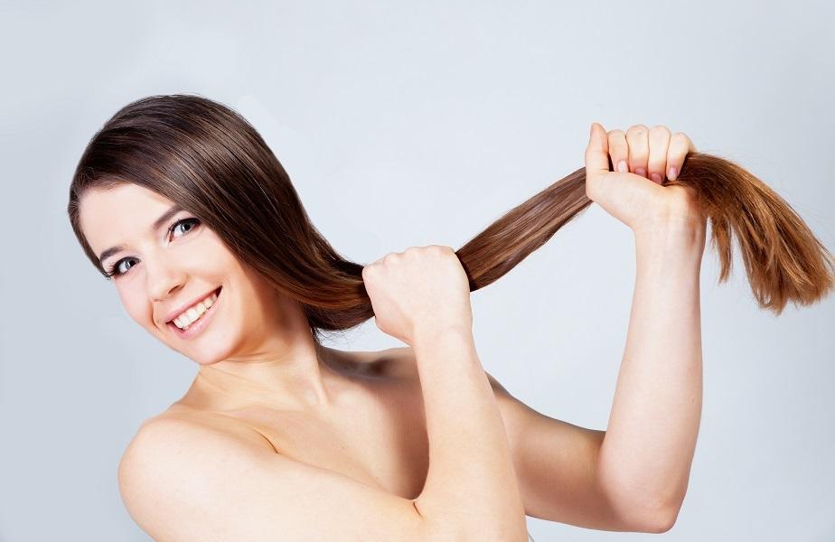 Длинные и крепкие волосы у девушки