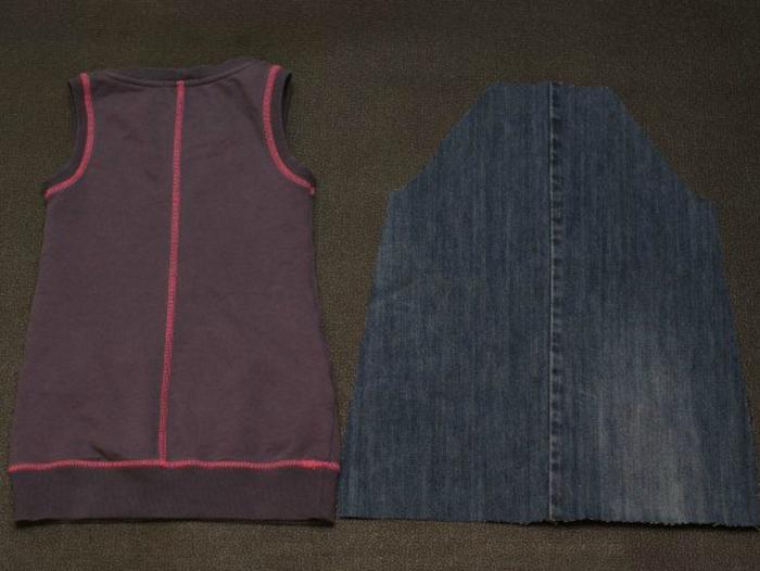 5286ef49c84e80616a64921294d4a994 Яркий рюкзак из старых джинсов