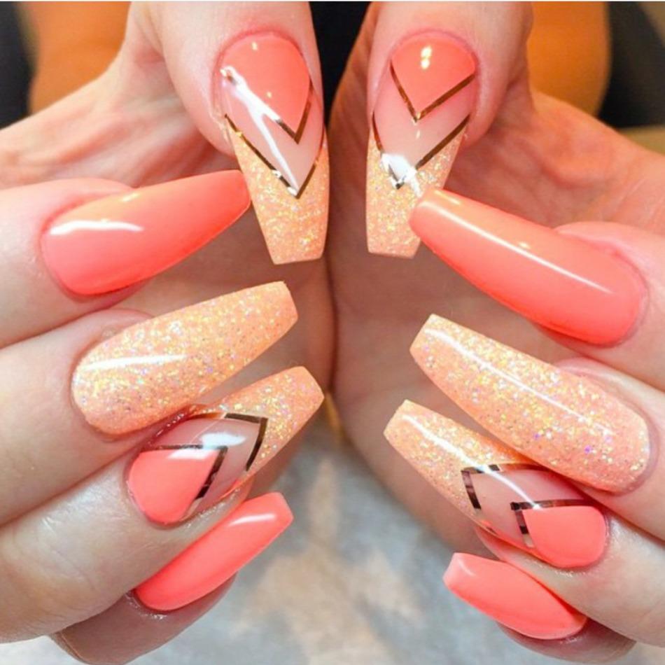 Дизайн ногтей балерина фото