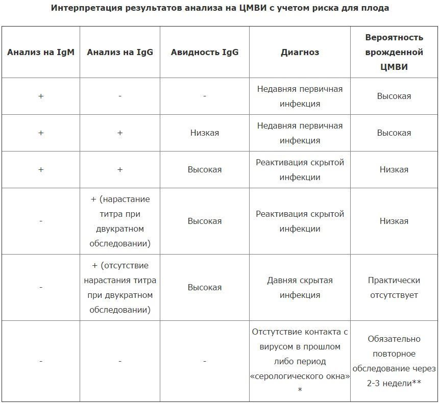 Нормы цитомегаловируса