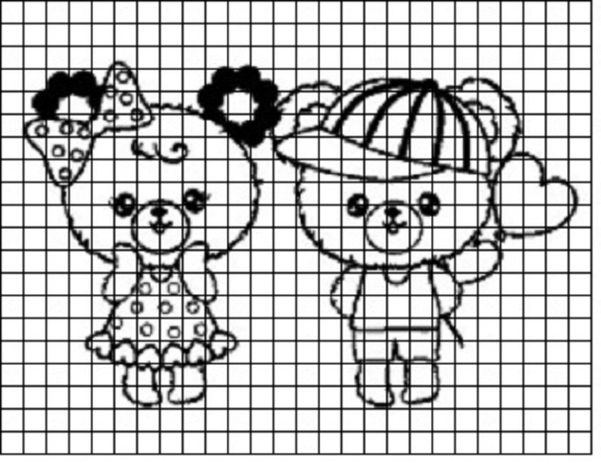 risunki-dlya-srisovivaniya-po-kletochkam Красивые и легкие рисунки для срисовки карандашом поэтапно для начинающих. Красивые и легкие рисунки по клеточкам для срисовки в тетради и личном дневнике для девочек и мальчиков