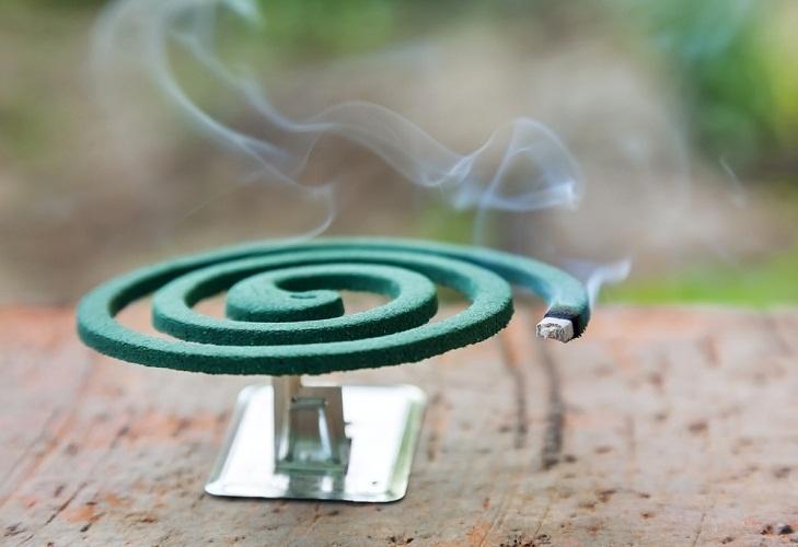 Спираль можно использовать только на свежем воздухе