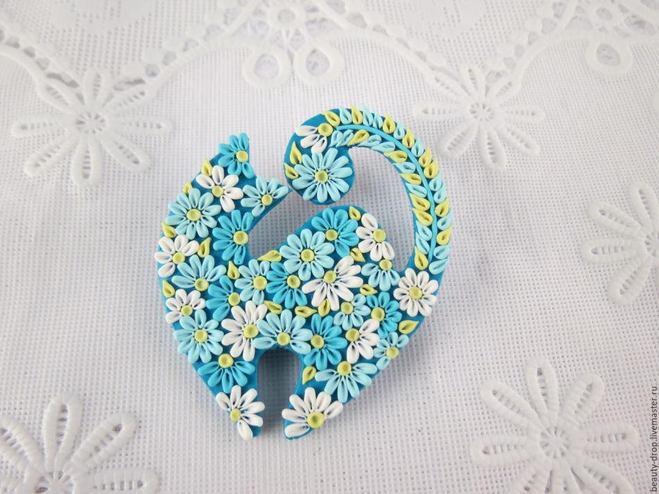 ideya-broshi Прекрасный кулон из пластики своими руками