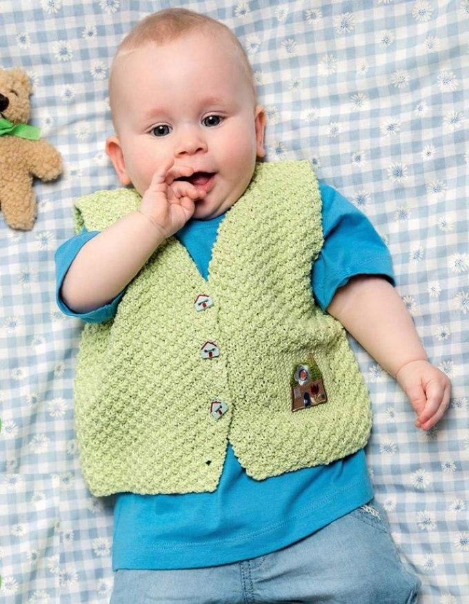 детский жилет спицами и крючком для мальчика схема выкройка