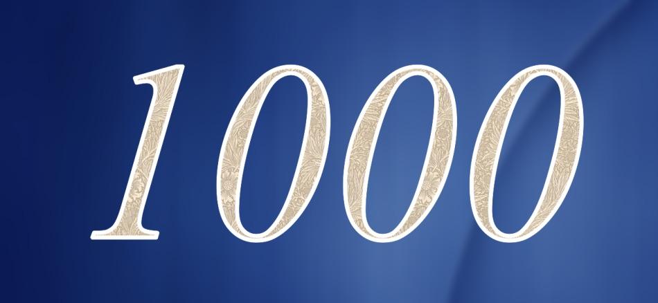 Картинка с цифрой 1000