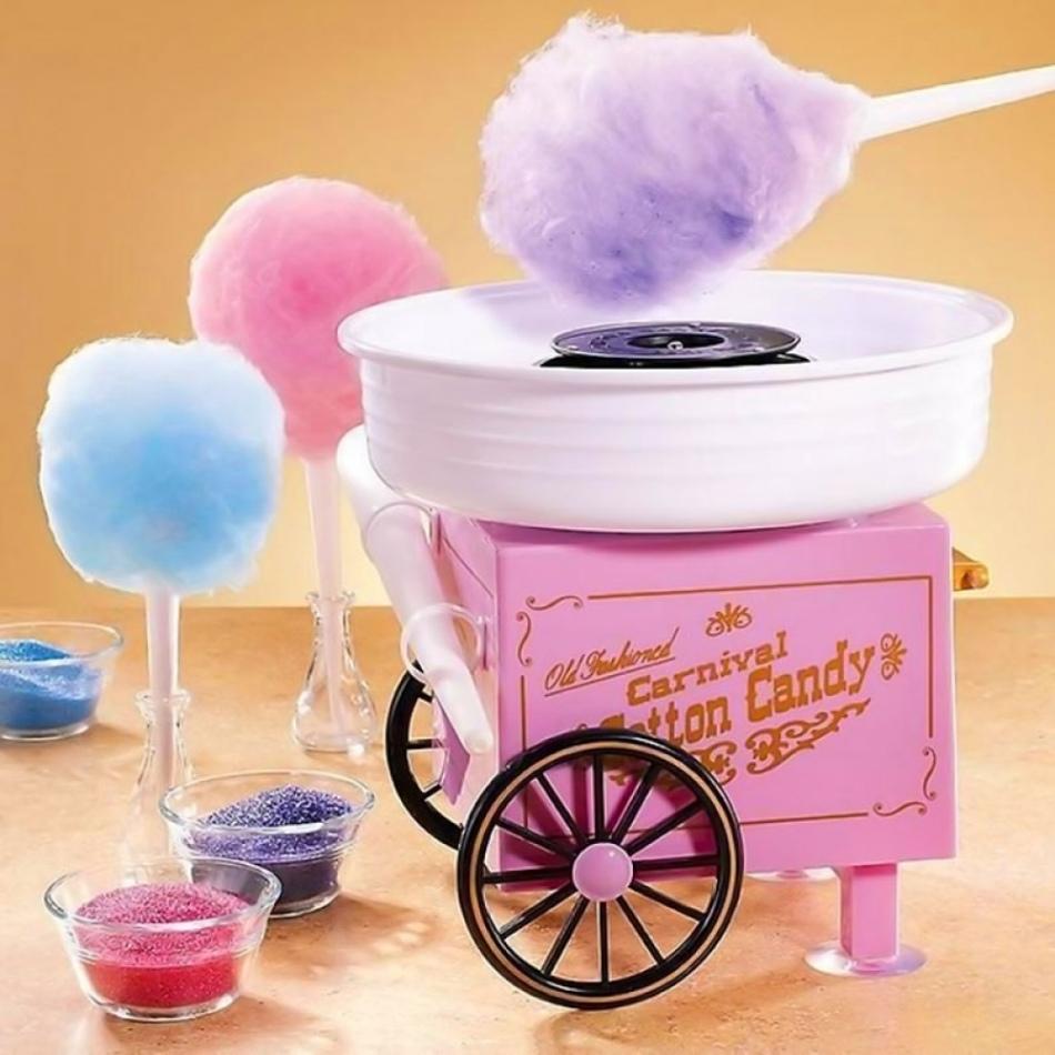 Миниатюрный аппарат для создания сахарной ваты - чудесный подарок для девушки