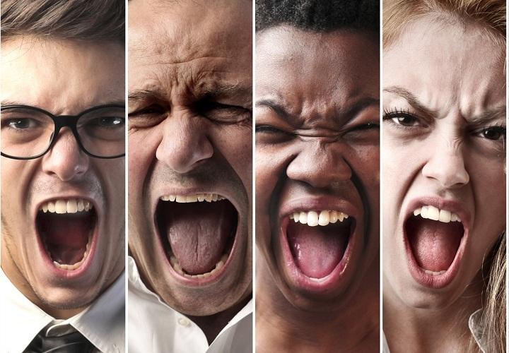 Гневом руководит темперамент человека, в зависимости от 4 типажей характера
