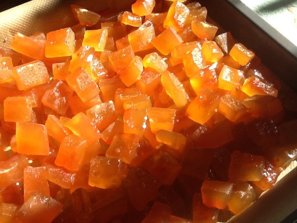 Тыквенные цукаты с медом по-быстрому