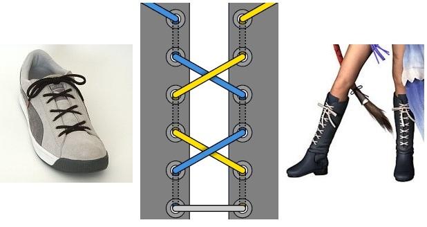 """Женская шнуровка """"бабочка"""" для обуви"""