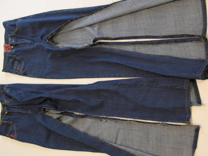 577a09460853dffd6f5b345d5800b173 Сарафан из старых джинсов своими руками: выкройки, как сшить детский сарафан