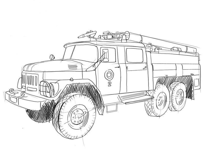 рисунки пожарных машин и пожарников квартальный
