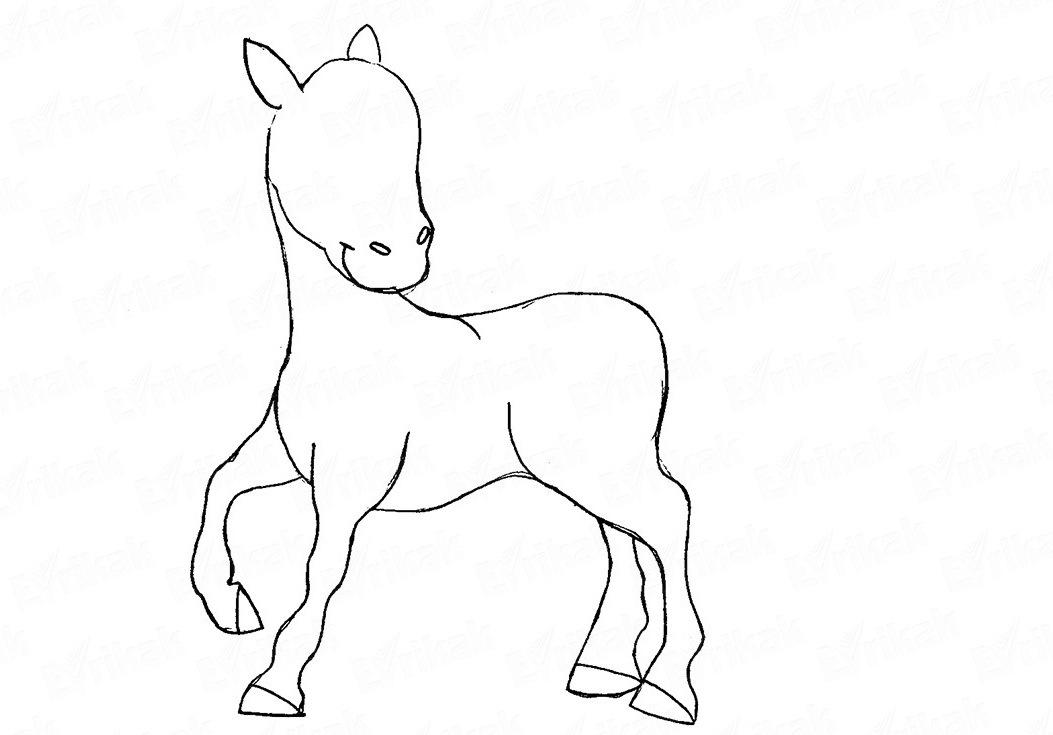 risuem-kopitca Как нарисовать единорога Рисуем единорога поэтапно