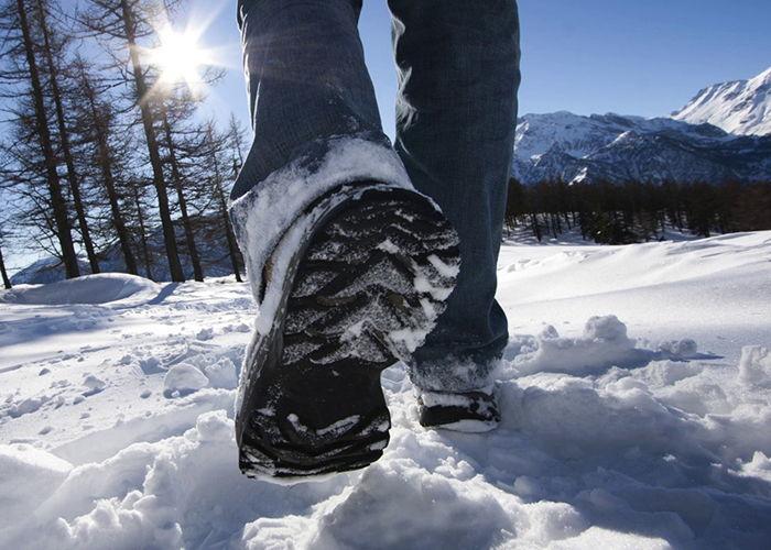 Не скользкая подошва на зимних ботинках