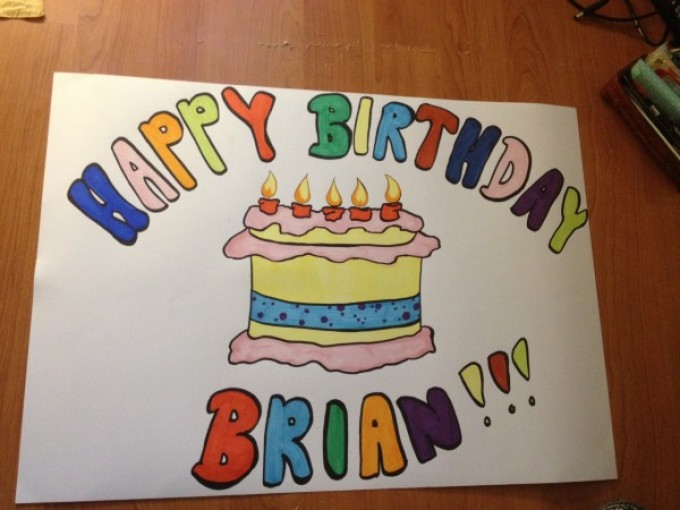 Открытка с днем рождения нарисовать своими руками подруге